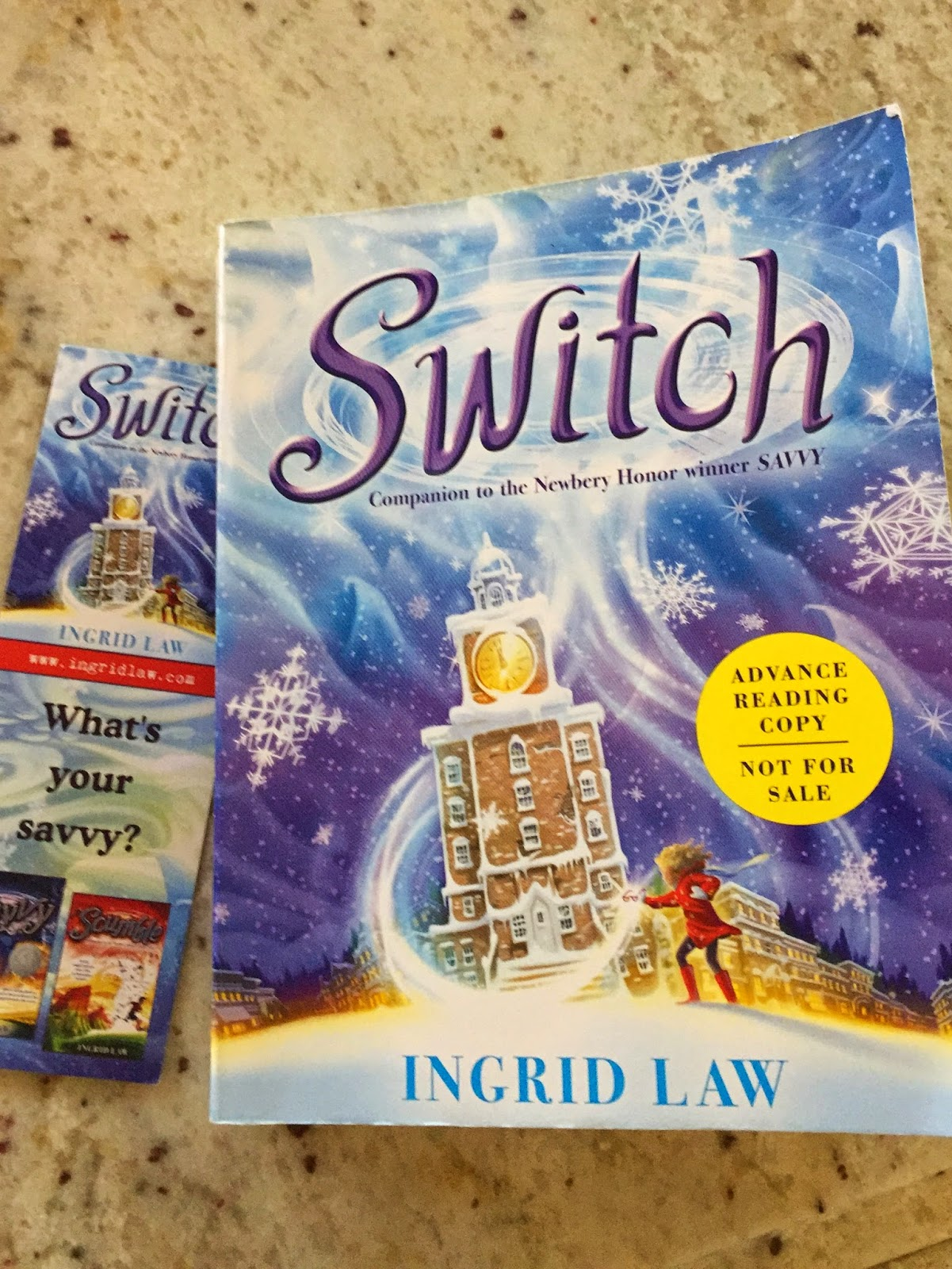 Switch By Ingrid Law, The Third Book In The Savvy Collection
