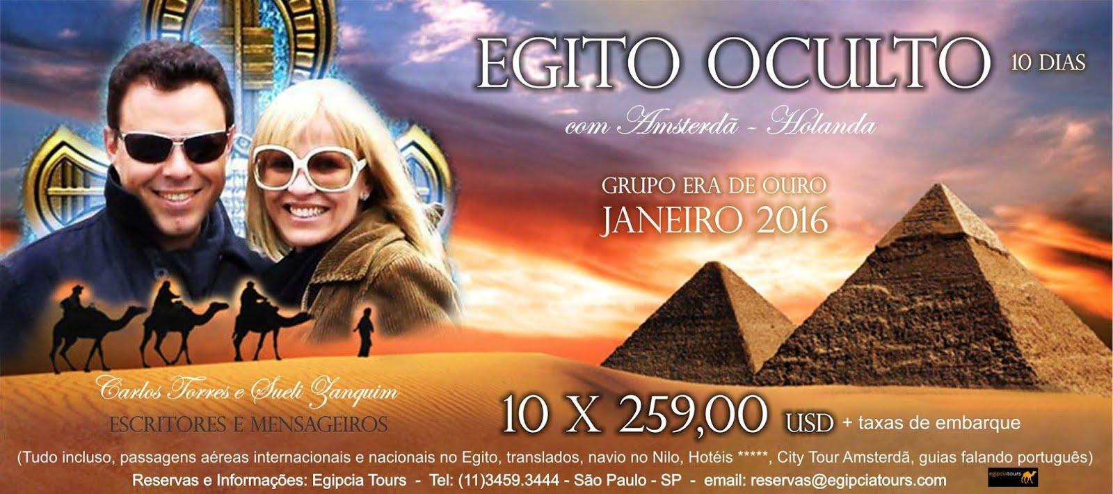 Egito com Amsterdã. 10x 259,00 USD - Tudo incluso.