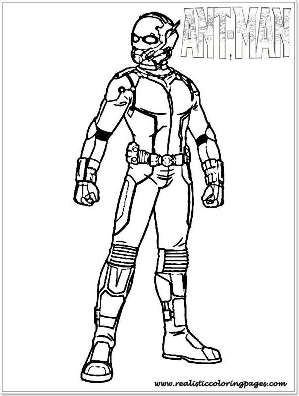 Ant Man Coloring Pages Printable | Realistic Coloring Pages