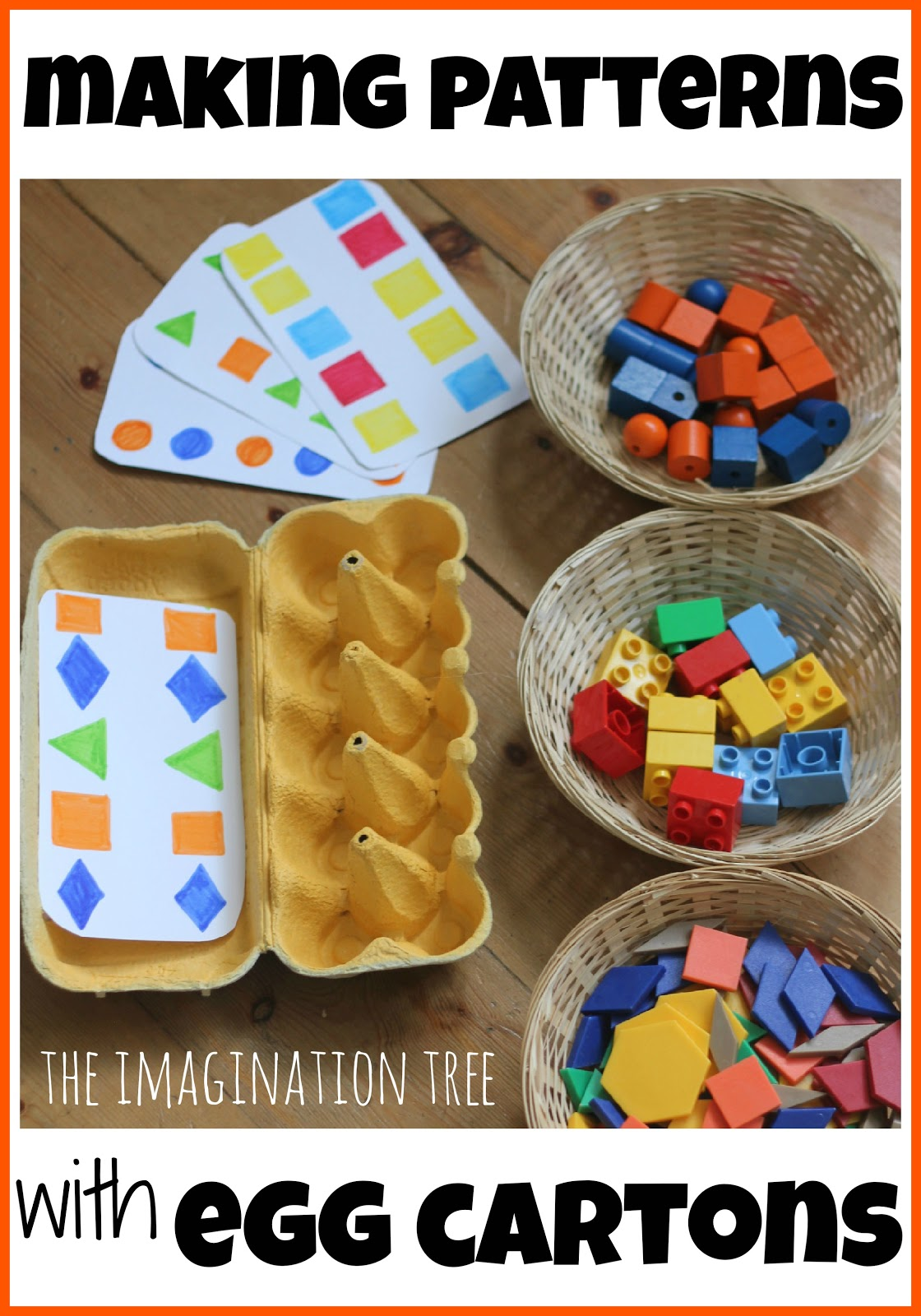 Making Patterns with Lego and Egg Cartons  The