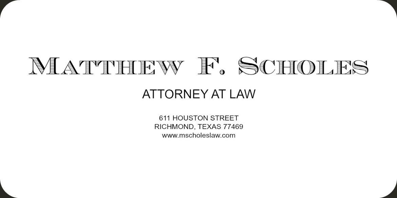 Matthew F. Scholes