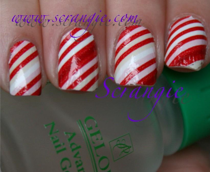 Scrangie My Christmas Eve Nails Sally Hansen Salon Effects In