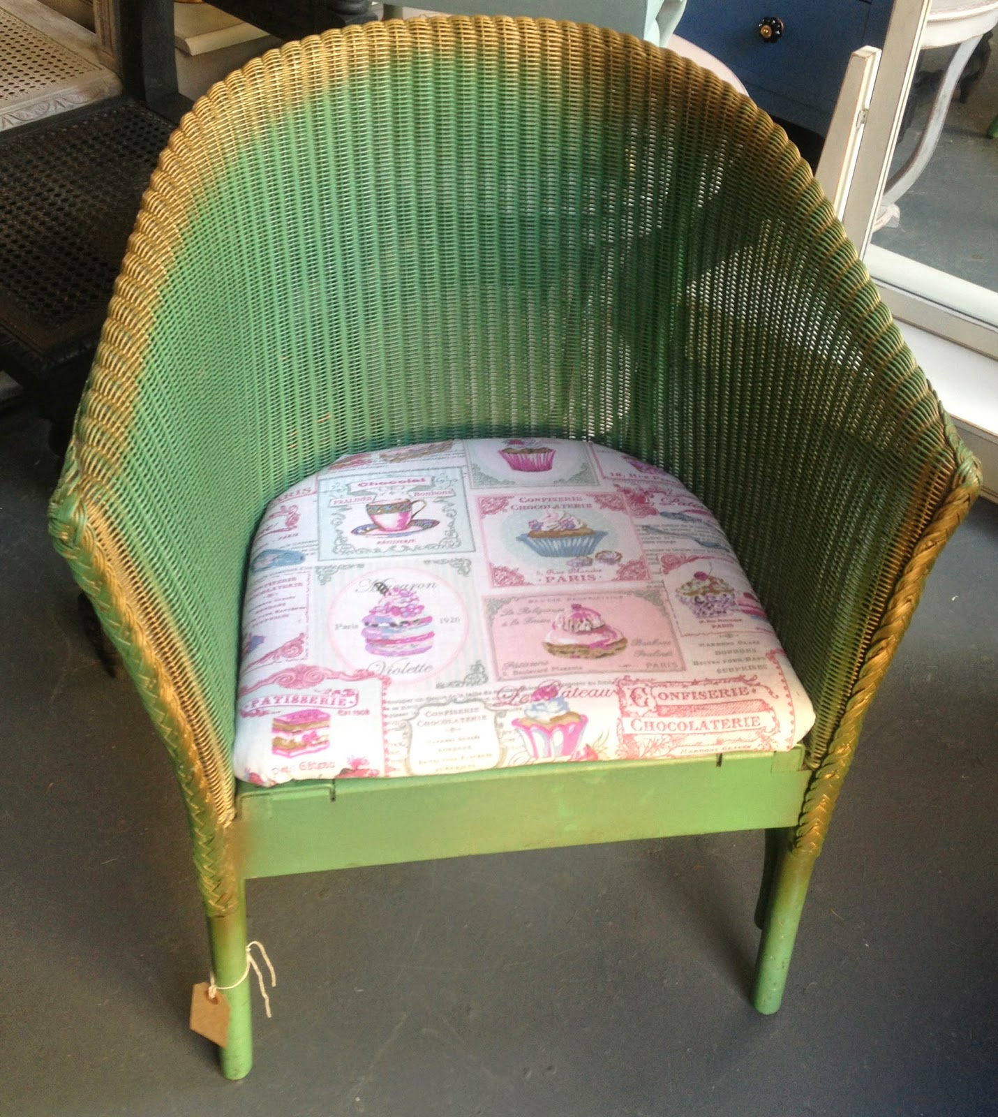 Chouchou vintage snippet on lusty lloyd loom for H furniture loom chair