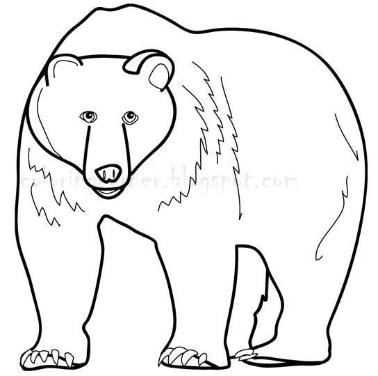 Free coloring pages of a bear head for Bear head coloring page