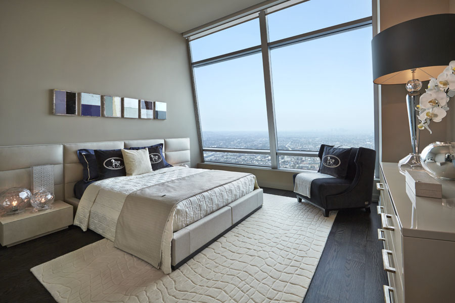 Design and interior project for Fendi casa bedroom