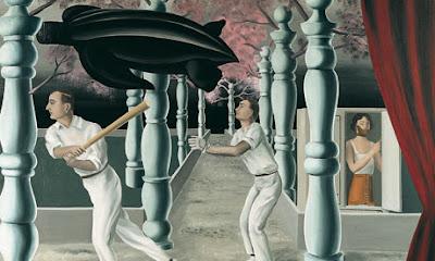The Secret Player, 1927, by René Magritte.