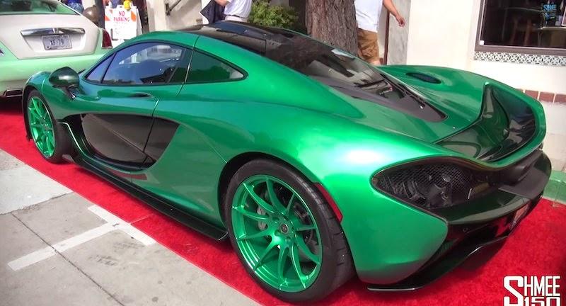 【動画】全てがグリーンに塗装された特注「マクラーレンP1」が目立ちすぎ!