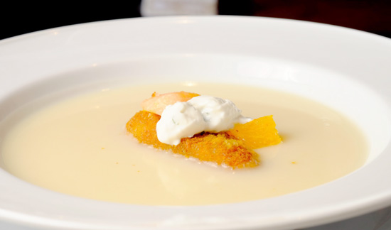 US POTATO SAFARI 3 IN DAVAO CITY: US Mashed Potato Soup Infused with Turmeric potato croutons