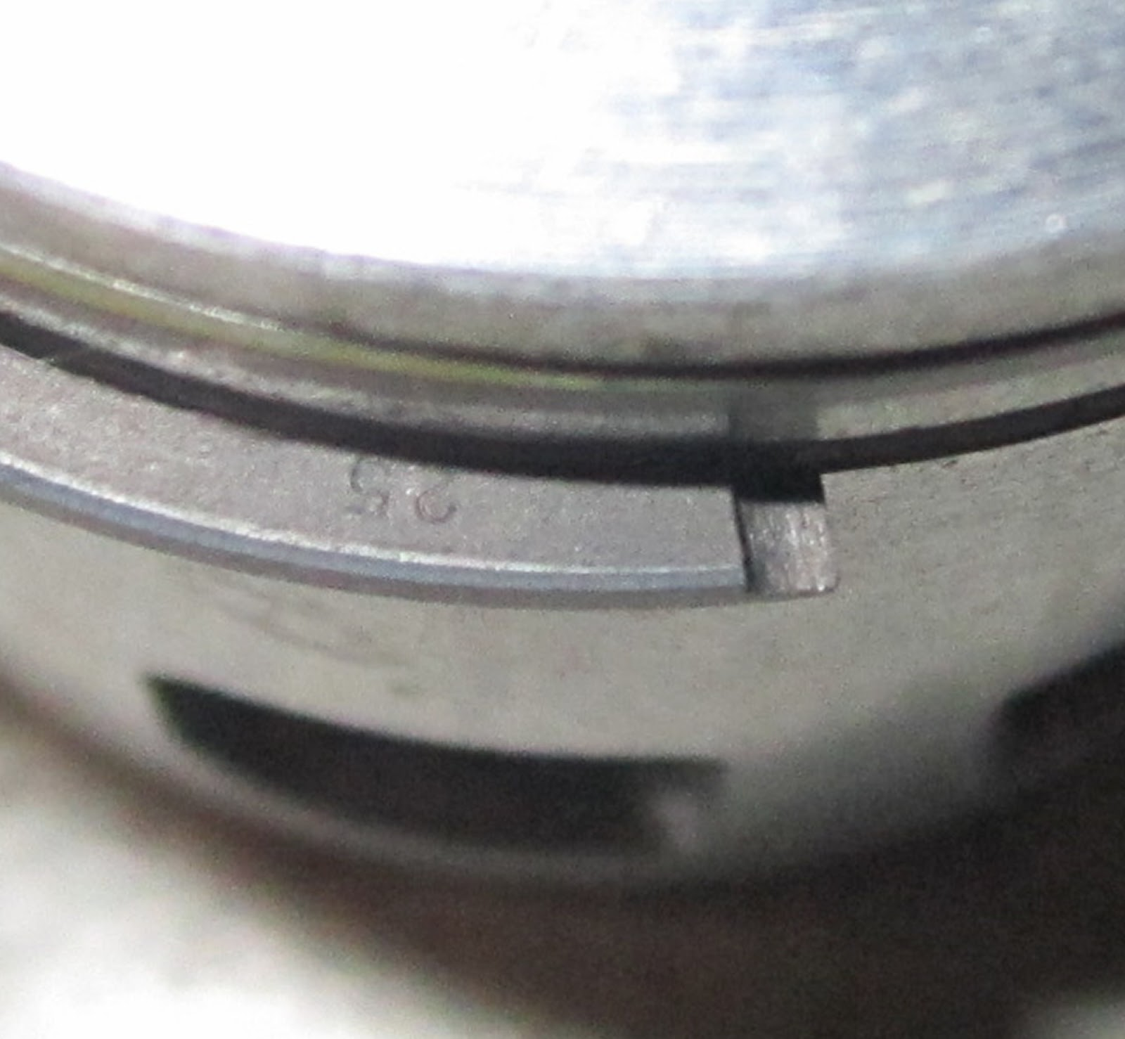 Close Up Of The 25 Mark On Second Piston Ring