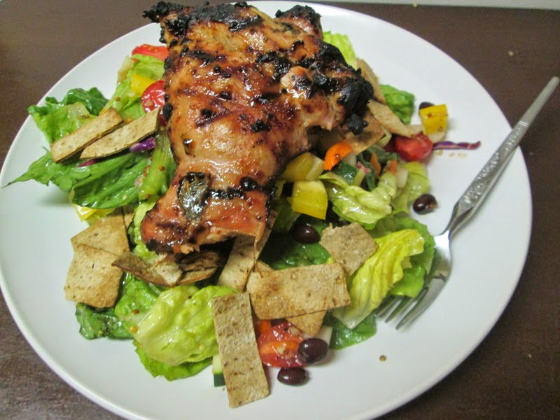 Honey Lemon Garlic Chicken on Southern Fattoush
