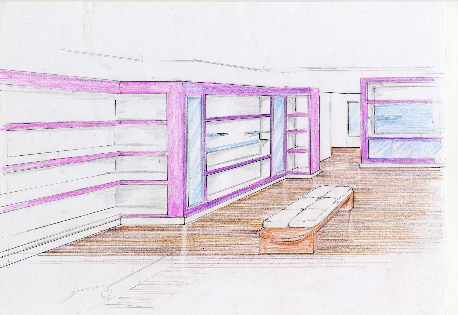 Interiorismo y decoracion lola torga asesoramiento decorativo para una tienda local de negocio - Boceto interiorismo ...