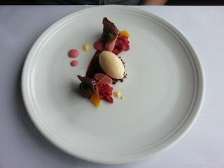 Ten Minutes by Tractor, Chocolate Rhubarb Dessert