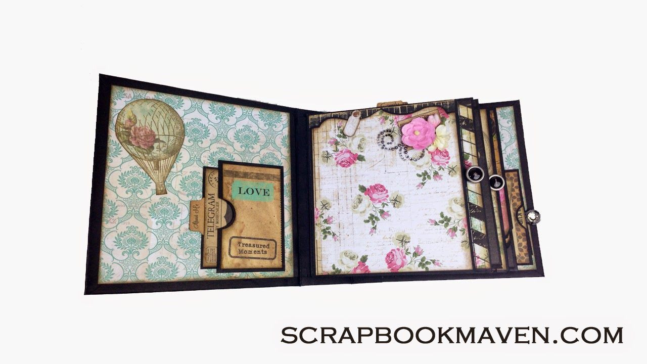 Marion Smith Designs Romance Novel Chapter 2 Mini Album Kit at ScrapbookMaven.com