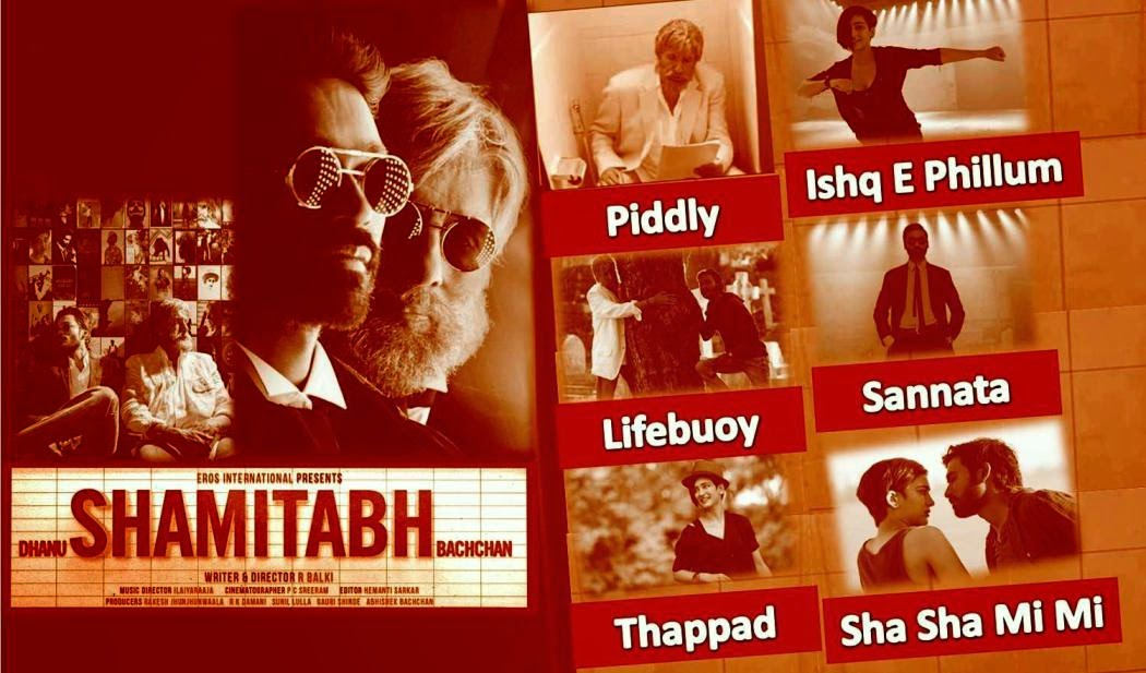 Amitabh Bachchan, Dhanush, Akshara Haasan starer Bollywood movie Shamitabh songs and music review