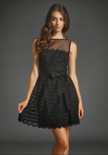 vestido encaje negro corto