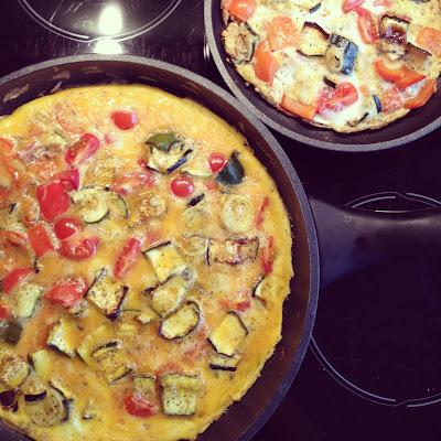 omelette légumes grillés
