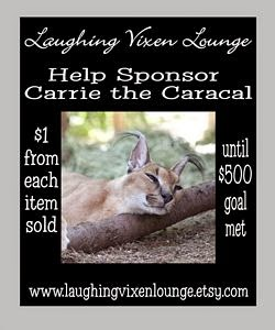 $1 From Each Sale At Laughing Vixen Lounge Goes To Help Sponsor Carrie The Caracal