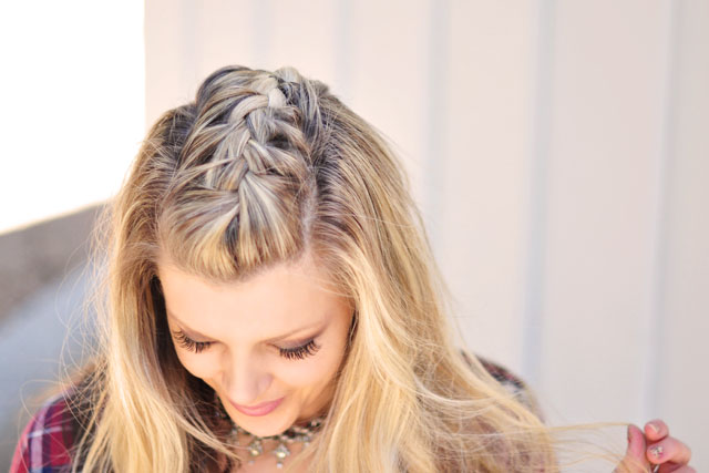French Braid Faux Hawk