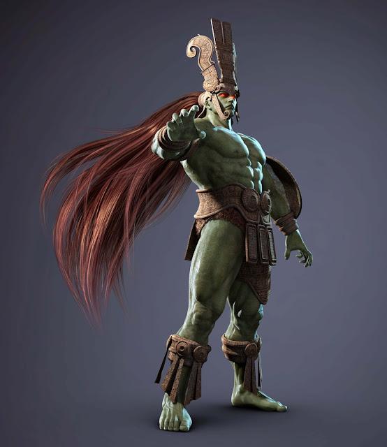 [Pop Culture Shock] Mortal Kombat X: Kotal Kahn 1:4 scale Tekken+Tag+2_ANCIENT+OGRE_