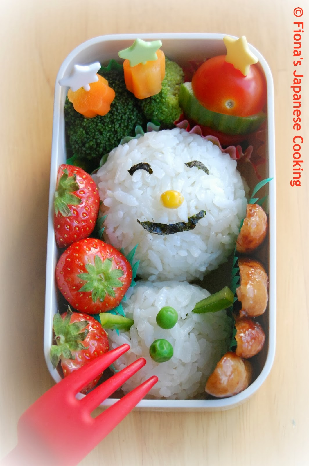 fiona 39 s japanese cooking christmas themed bento box lunch ideas. Black Bedroom Furniture Sets. Home Design Ideas