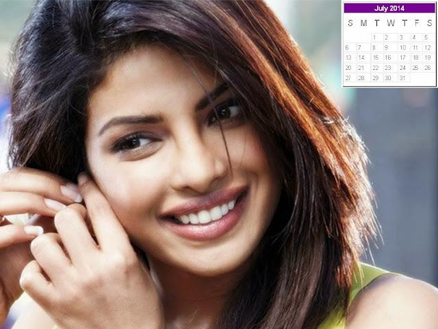 Priyanka Chopra Calendar 2014