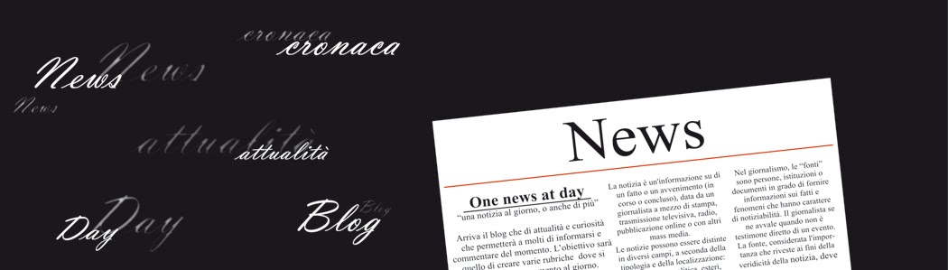 One news at day - una notizia al giorno