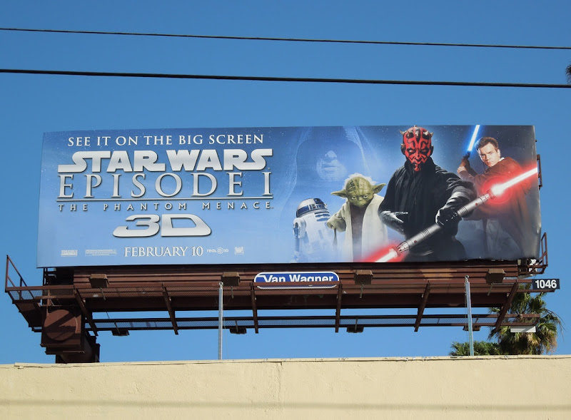 Star Wars Episode I 3D billboard
