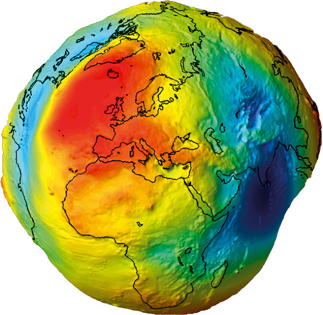 real shape of earth?(with water)