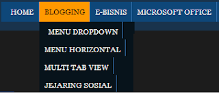 Menu Dropdown Blog-Website