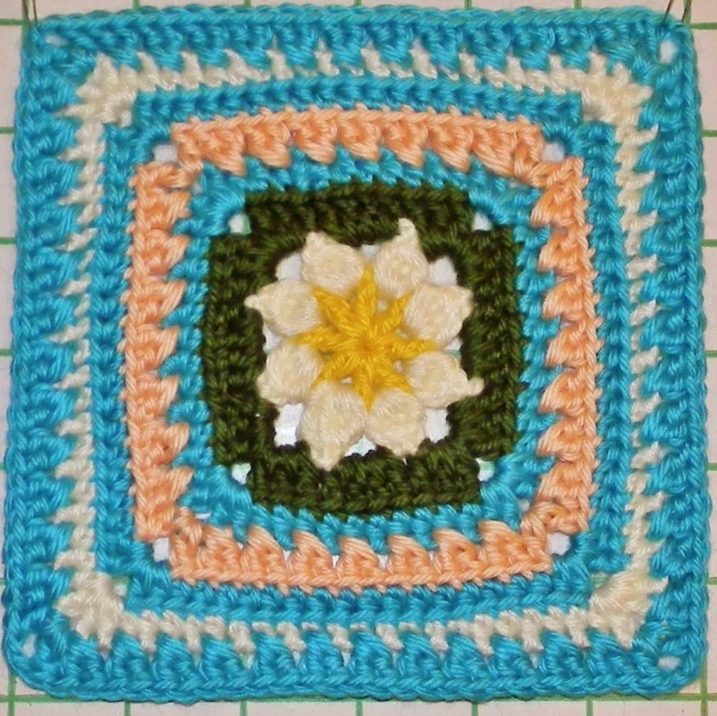 Free Crochet Granny Square Pattern - Walled Garden