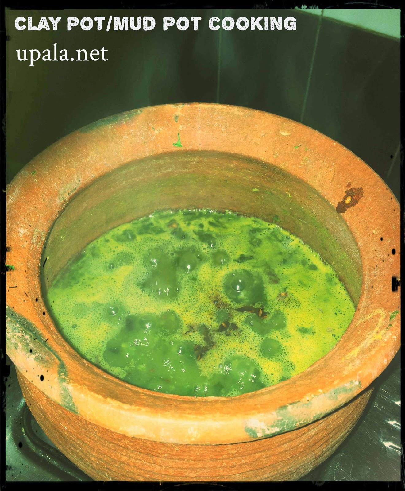 keerai kadayal clay pot
