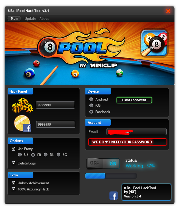 8 ball pool coin hack app download