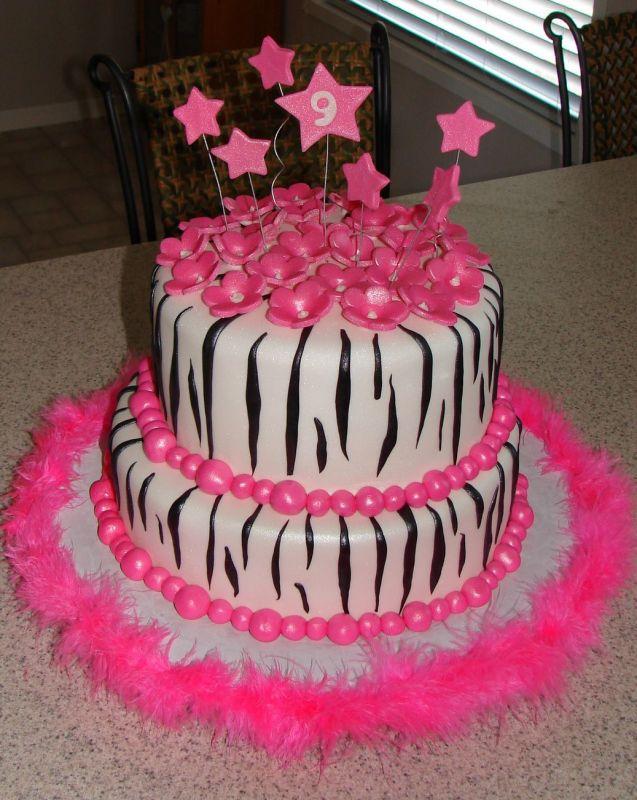 Zebra Birthday Cake Zebra Cakes 2011