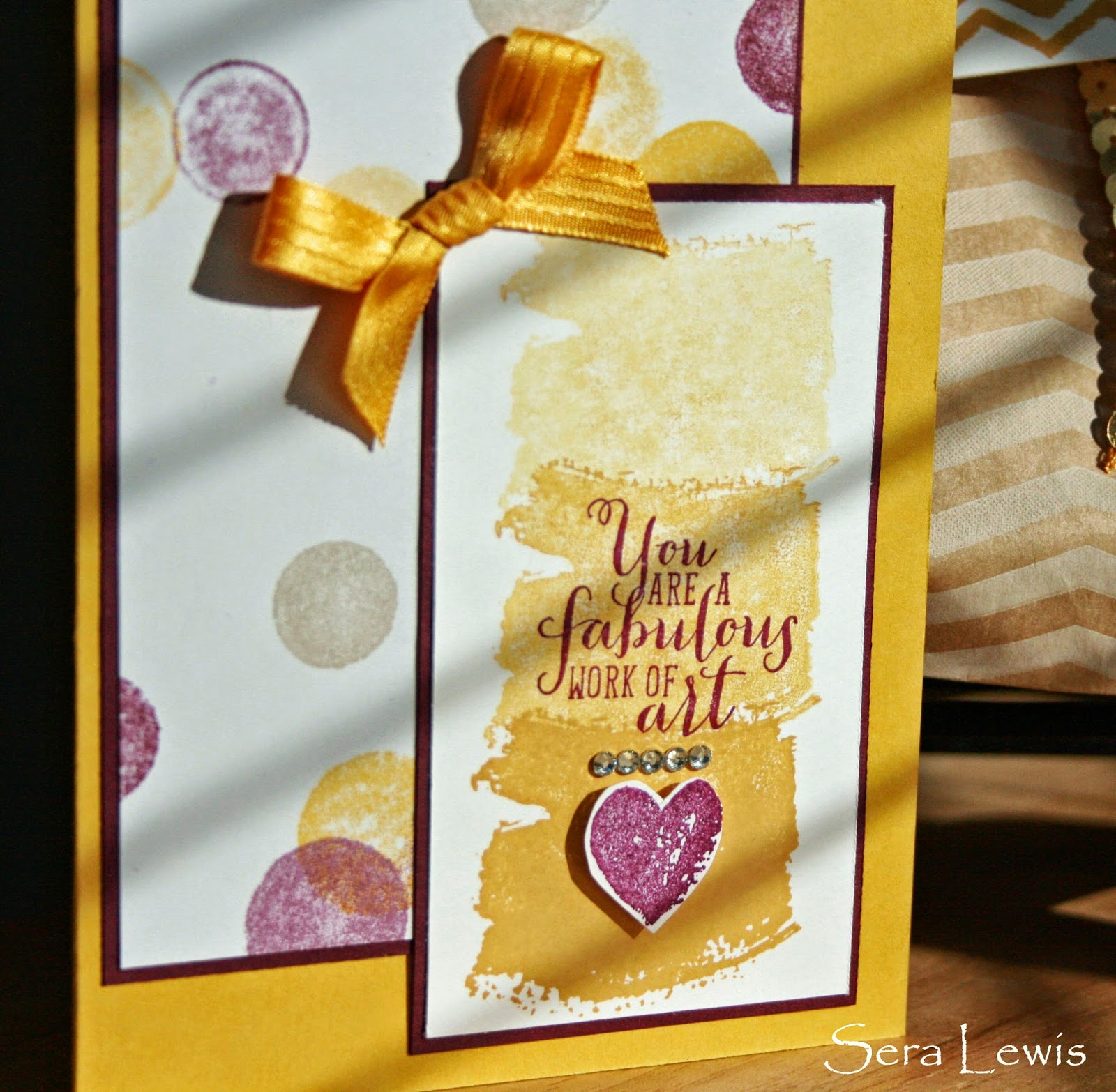 Stampin' Up Work of Art card