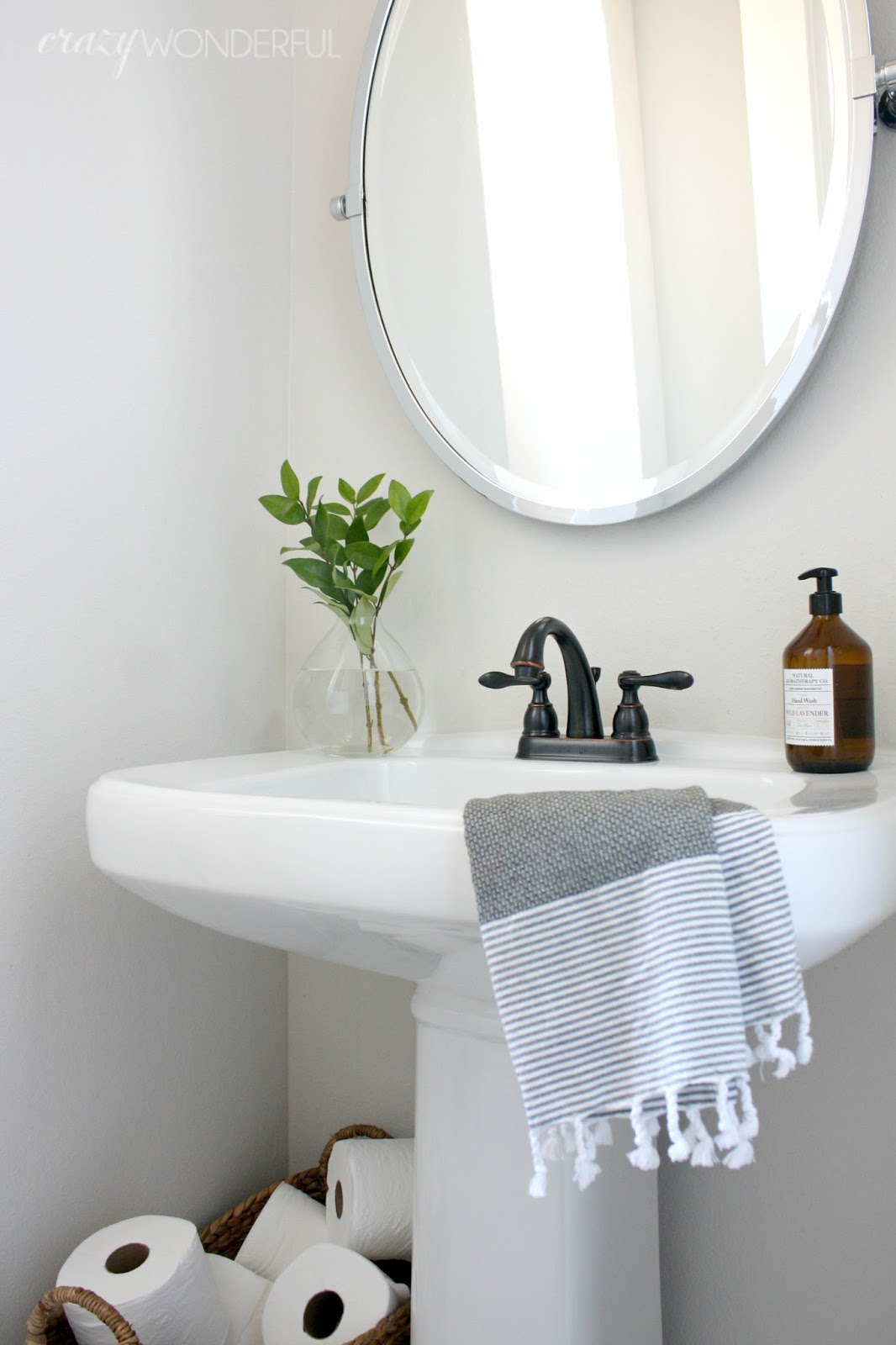 our powder room - Powder Room Pedestal Sink