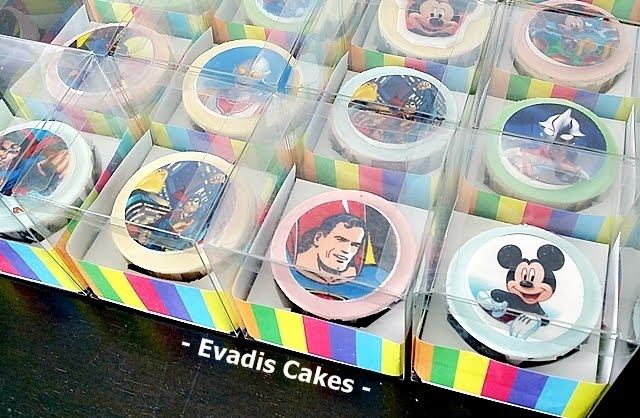 Close view picture of customize image cupcakes