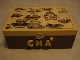 Caixa de Chá em Castanho
