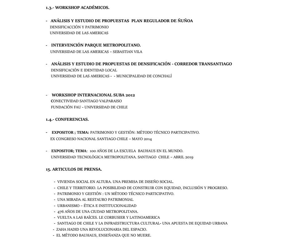 Curriculum Arquitecto Marco Muñoz Ortiz página 3 de 5