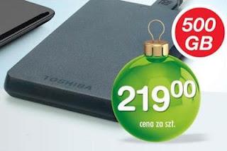 Dysk twardy Toshiba 500GB Biedronka