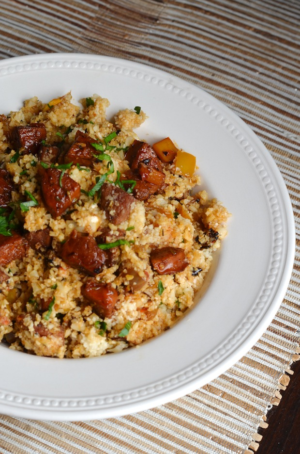 Cauliflower Dirty Rice with Andouille Sausage (Paleo) - Always Order ...