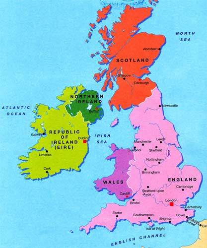 Show Map Of Ireland And Scotland Cromarty Scotland Map Of - Map of ireland and england