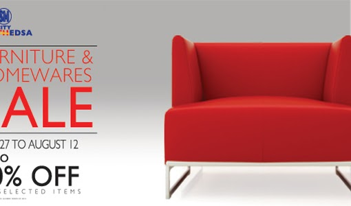 Home Living: SM City North EDSA Furniture and Home Ware SALE from July 27 – August 12.