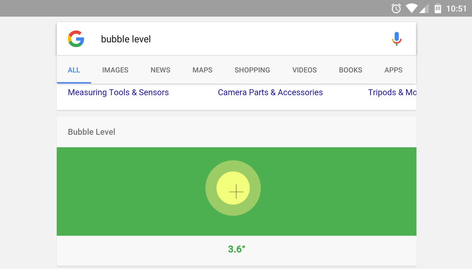 "Search ""Bubble Level"" on Your Phone To Brings Up an Interactive Bubble Level"
