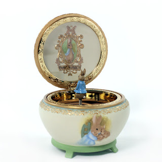 San Francisco Music Box PETER RABBIT Beatrix Potter Hinged MUSIC NEW