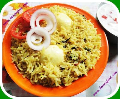 Simple Egg Biryani