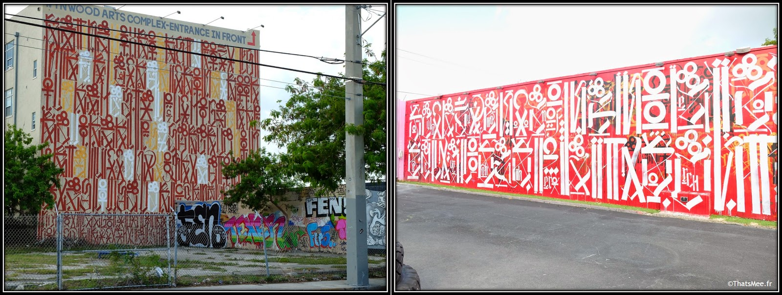 Miami Art Basel street artist Retna signes arabes Wynwood Walls Art District Miami