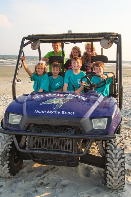 Younger members of the 2014 NMB Sea Turtle Patrol
