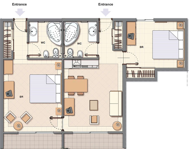 Foundation dezin decor hotel room plans layouts for Hotel design layout