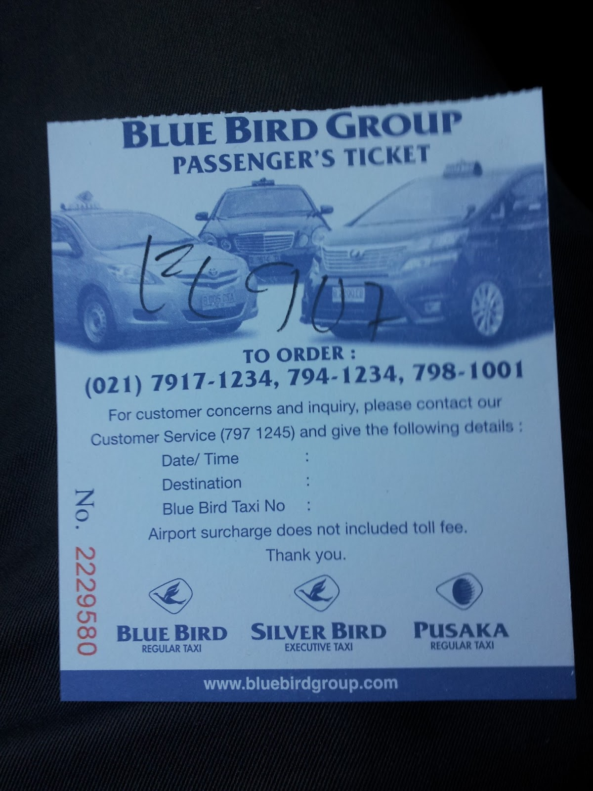 how to get bluebird taxi at airport