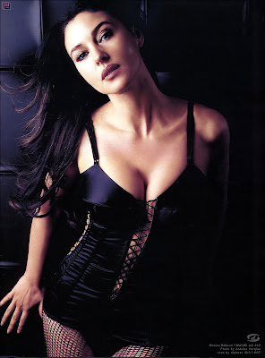 Monica Bellucci black dress hot babes